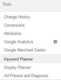 tools to keyword planner